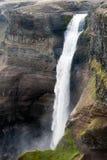 Particolare della cascata di Haifoss Fotografia Stock Libera da Diritti