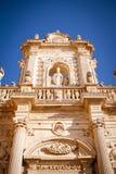 Particolare della cattedrale del Lecce fotografia stock