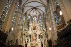 Particolare della cattedrale di Erfurt Immagini Stock