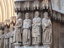 Particolare della cattedrale di Tarragona immagini stock