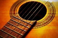 Particolare della chitarra Immagini Stock