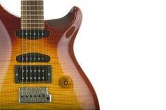 Particolare della chitarra elettrica Fotografia Stock