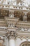 Particolare della colonna - basilica di Lecce Immagini Stock Libere da Diritti