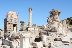 Particolare della costruzione in Ephesus (Efes) Fotografie Stock Libere da Diritti