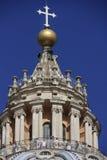 Particolare della cupola della basilica del Peter del san, Città del Vaticano, Fotografie Stock Libere da Diritti
