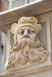 Particolare della facciata della casa in vecchia città, Danzica Polonia Immagini Stock