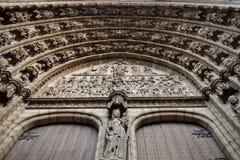 Particolare della facciata della cattedrale di Anversa Fotografia Stock Libera da Diritti