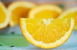 Particolare della fetta arancione Fotografie Stock Libere da Diritti
