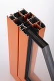 Particolare della finestra della lega di alluminio Immagini Stock Libere da Diritti