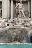 Particolare della fontana del Trevi Fotografia Stock