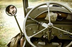 Particolare della jeep Willys Fotografie Stock Libere da Diritti