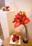 Particolare della mensola della stanza da bagno Immagine Stock