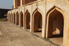 Particolare della moschea alla fortificazione di Golconda, Haidarabad Immagine Stock Libera da Diritti