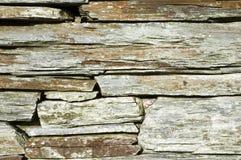 Particolare della parete Drystone. Immagini Stock
