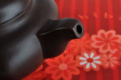 Particolare della parte delle terraglie cinesi del tè Fotografia Stock