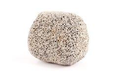 Particolare della pietra pomice isolato su priorità bassa bianca Fotografia Stock Libera da Diritti