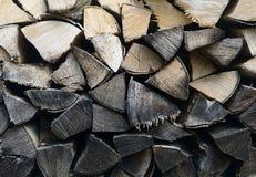 Particolare della pila della legna da ardere Fotografie Stock Libere da Diritti