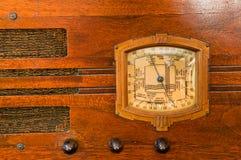 Particolare della radio del tubo dell'annata Fotografie Stock