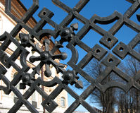 Particolare della rete fissa del giardino Immagini Stock Libere da Diritti