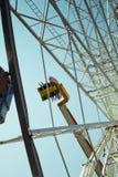 Particolare della rotella di Ferris Immagine Stock Libera da Diritti