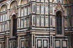 Particolare della Santa Maria del Fiore (Duomo) della basilica fotografia stock
