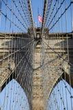 Particolare della sospensione sul ponte di Brooklyn Immagine Stock Libera da Diritti