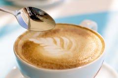 Particolare della tazza di caffè Fotografia Stock Libera da Diritti