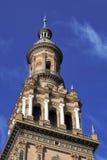 Torre del nord alla plaza de Espana (quadrato) della Spagna, Siviglia, Spai immagini stock libere da diritti