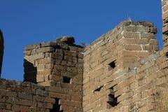 Particolare della torre di pietra della grande muraglia della Cina Immagine Stock Libera da Diritti
