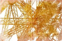 Particolare della Torre Eiffel di Grunge Fotografia Stock