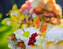 Particolare della torta di cerimonia nuziale Fotografia Stock Libera da Diritti