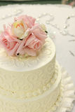 Particolare della torta di cerimonia nuziale Fotografie Stock