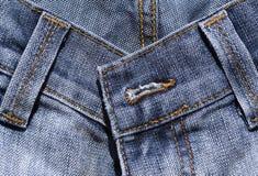 Particolare delle blue jeans Fotografia Stock Libera da Diritti