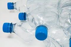 Particolare delle bottiglie di plastica Fotografia Stock Libera da Diritti