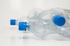 Particolare delle bottiglie di plastica Fotografia Stock