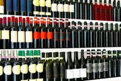 Particolare delle bottiglie di vino Fotografie Stock Libere da Diritti