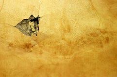Particolare delle rovine su una parete arancione Immagine Stock Libera da Diritti