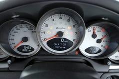 Particolare dello speedo dell'automobile Fotografia Stock