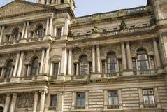 Particolare di architettura degli alloggiamenti della città di Glasgow Fotografia Stock Libera da Diritti