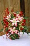 Particolare di cerimonia nuziale - fiori Fotografia Stock