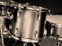 Particolare di Drumkit nel tono di seppia Fotografia Stock