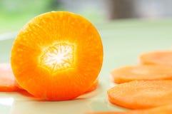 Particolare di esposizione del taglio della carota Fotografie Stock