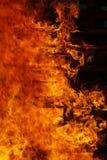 Particolare di fuoco burning Fotografia Stock Libera da Diritti