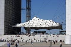 Particolare di grande Arche, Parigi Immagini Stock Libere da Diritti