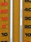 Particolare di legno del termometro Fotografia Stock Libera da Diritti