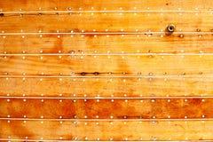 Particolare di legno di struttura del guscio della barca Immagini Stock Libere da Diritti