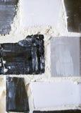 Particolare di malta liquida fra le mattonelle di mosaico Fotografia Stock Libera da Diritti