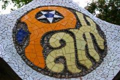Particolare di Parc Guell Fotografia Stock
