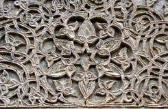 Particolare di pietra trasversale medioevale Fotografie Stock