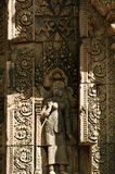 Particolare di scultura di pietra di khmer Immagine Stock Libera da Diritti